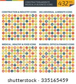 432 icons construction industry ... | Shutterstock .eps vector #335165459
