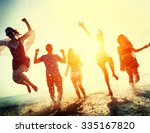 friendship freedom beach summer ... | Shutterstock . vector #335167820
