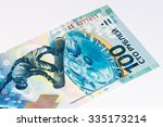 100 russian rubles bank note... | Shutterstock . vector #335173214