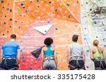 fit people ready to rock climb... | Shutterstock . vector #335175428