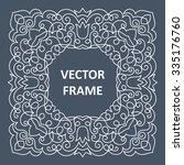 vintage frame for your text.... | Shutterstock .eps vector #335176760