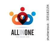 all in one icon logo element | Shutterstock .eps vector #335182154