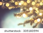 closeup of christmas tree... | Shutterstock . vector #335183594