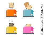 toasters icons. vector...   Shutterstock .eps vector #335187290
