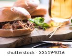 traditional pub meal  pulled... | Shutterstock . vector #335194016