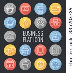 set of business flat icon
