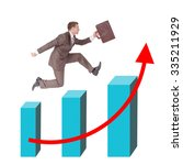 businessman running with...   Shutterstock . vector #335211929