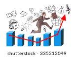 businessman running with... | Shutterstock . vector #335212049