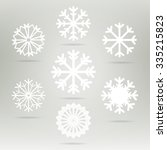 snowflakes set vector icons.... | Shutterstock .eps vector #335215823