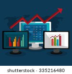 stock market with statistics... | Shutterstock .eps vector #335216480
