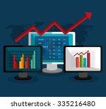 stock market with statistics... | Shutterstock .eps vector #335216480
