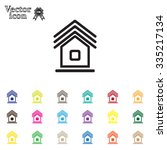 home icon | Shutterstock .eps vector #335217134