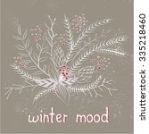 pastel doodle winter card... | Shutterstock .eps vector #335218460