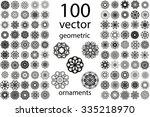 100 set abstract geometric... | Shutterstock .eps vector #335218970