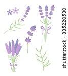 lavender flat vector set | Shutterstock .eps vector #335220530