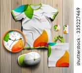 white creative promotional...   Shutterstock .eps vector #335227469