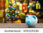 piggy bank with christmas...