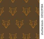 fox pattern | Shutterstock .eps vector #335229584