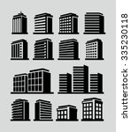 buildings vector icon  | Shutterstock .eps vector #335230118