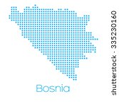 a map of the country of bosnia | Shutterstock .eps vector #335230160