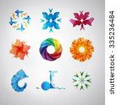 logo set. vector. abstract spa... | Shutterstock .eps vector #335236484