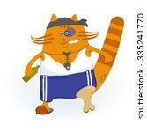 pirate cat. cartoon character....   Shutterstock .eps vector #335241770