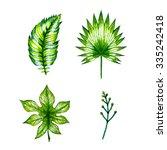 watercolor multicolor set... | Shutterstock . vector #335242418