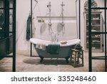 design of classic bathroom  | Shutterstock . vector #335248460