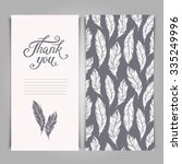elegant thank you card template ... | Shutterstock .eps vector #335249996
