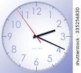 purple clock with black and red ...   Shutterstock .eps vector #335256830