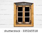Small Window In Wooden Village...