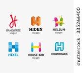 set of letter logo design...   Shutterstock .eps vector #335266400