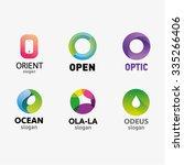 set of letter logo design... | Shutterstock .eps vector #335266406