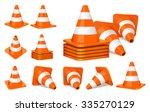 Set Of Orange Plastic Traffic...