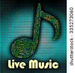 live music representing sound... | Shutterstock . vector #335273060