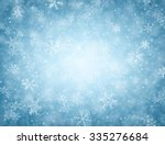 Winter Blue Background With...