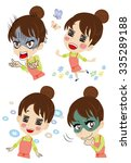 comical young housewife | Shutterstock .eps vector #335289188