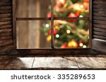 free space on window sill and... | Shutterstock . vector #335289653