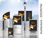 classic black outdoor...   Shutterstock .eps vector #335290760