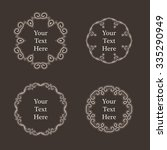 ornate richly decorated vintage ... | Shutterstock . vector #335290949
