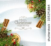 christmas greeting card with... | Shutterstock .eps vector #335291864