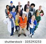 group of multiethnic diverse... | Shutterstock . vector #335293253
