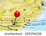 arapiraca pinned on a map of... | Shutterstock . vector #335296238