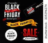 black friday sale design... | Shutterstock .eps vector #335296274
