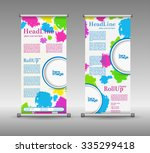 roll up banner abstract...