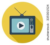 television icon | Shutterstock .eps vector #335301524