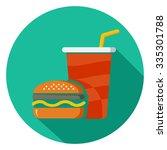 junk food icon  | Shutterstock .eps vector #335301788