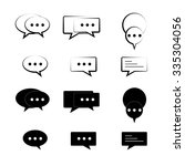 speech bubbles geometric and... | Shutterstock .eps vector #335304056
