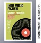 indie musician concert show... | Shutterstock .eps vector #335305844