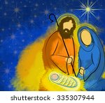 Christmas Nativity Scene Holy...